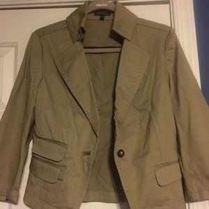Express khaki blazer, size 6